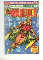 Warlock #9 VF+ 8.5 Glossy 1975 THANOS & GAMORA! 1 Begin 2nd STARLIN Thanos Saga!
