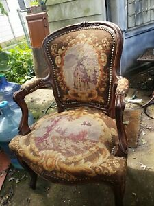 Antique French Style Chair Louis Xv Maiden