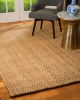 Capital Thick Hand Woven Jute Non-Slip Skid Resistant Area Throw Rug Carpet