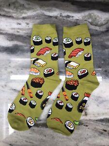 Green Sushi Socks Medium USA Shipping