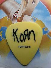 KORN 2002 Untouchables Tour yellow guitar pick
