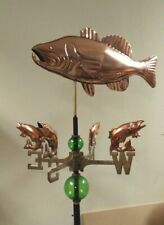 Majestic classical bass weathervane,3d fish nsew directionals/rod/balls,
