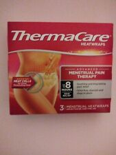 ThermaCare Heatwraps MENSTRUAL PAIN THERAPY Air Activated 3 Pack Exp 01/23