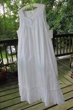 nwt Eileen west women's xl 100% woven cotton long length nightgown ruffle detail