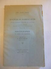 FRAZER (James George). Le Cycle du Rameau d'or. 1930