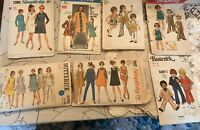 Vintage Sewing Patterns Lot of 7 - 4 Women & 3 Children - Late '60's
