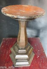 Antique Candle light table Remade Original turned wood balastrade base treenware