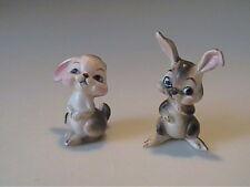 Two Vintage Josef Originals Miniature Brown Bunny Rabbits - Japan