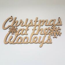 Christmas at the... Personalised hanging sign MDF Wooden plaque