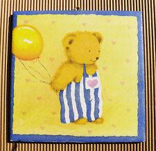 Dekofliese Geburtstag Danke Mitbringsel Geschenkidee Bär Teddy Teddybär (040)