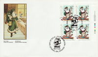 CANADA #1501 86¢ CHRISTMAS PERSONAGES UR PLATE BLOCK FIRST DAY COVER