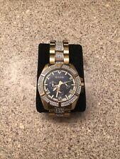 Bulova Men's Swarovski Crystal Quartz Watch. Blue/Gold