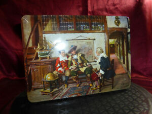 Vntge CWS Co-operative Wholesale Society CHOCOLATE BISCUIT TIN Traveller's Tales