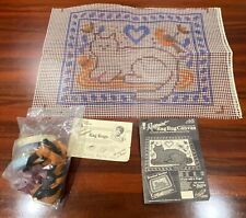 New listing 1988 Suzanne McNeill 18x24 Colonial Cat Rag Rug Kit - Includes Rags!