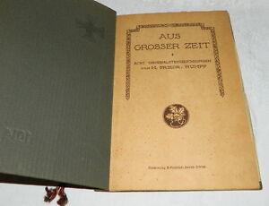 """Buch 1914 1915 H. Frieder Rumpf acht Originalzeichnungen """"Aus grosser Zeit"""""""