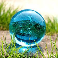 40mmStand Rare Natural Quartz Blue Magic Crystal Healing Ball Sphere &