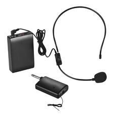 FM Wireless Mic System Voice Amplifier+Transmitter Receiver for Speech Z7Q5