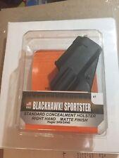 Blackhawk Sportster STD CQC Belt &P. Holster RH Black Fits Ruger SR9 415641BK-R