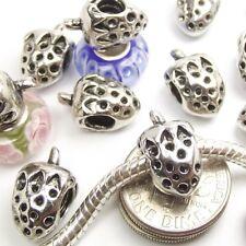 Strawberry Screw Threaded Stopper Lock Bead for Silver European Charm Bracelet