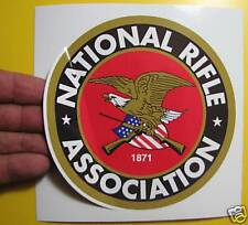 """BEST PRICE!! LOT OF 10 DECAL / STICKER NATIONAL RIFLE ASSOCIATION 5"""" X 5"""""""