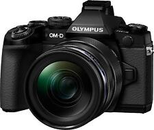 Olympus OM-D E-M1 16.0MP Digitalkamera - Schwarz (Kit mit 12-40mm Objektiv)