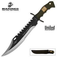 MARINE FORCE RECON SAWBACK BOWIE KNIFE UNITED CUTLERY NEW