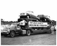 1955 Studebaker E28 Car Carrier & Pickup Truck Photo Poster zu1243-YHMA66