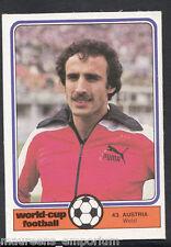 Monty Gum World Cup 1982 Football Card No 43 - Welzl - Austria