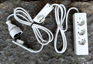 EVOline Plug Flachstecker mit Kabel 3-fach Steckdose Schuko-Verlängerung Auswahl
