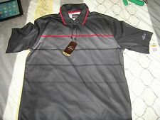 NWT Greg Norman PlayDry Men's Golf Polo striped Size Small New