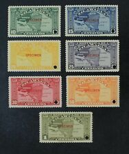 CKStamps: Latin Nicaragua Stamps Collection Mint NH OG Specimen Punched Hole
