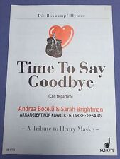 Time to say Goodbye ED 8765 Schott Con te partiro Boxkampf Hymne