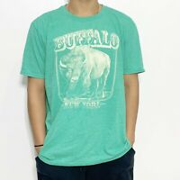 Buffalo New York Green Short Sleeve Shirt Tshirt Tee Crew Neck XL Graphic