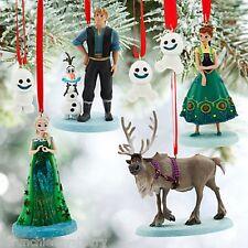 Disney Store Frozen Fever Ornament Set Anna Elsa Olaf Sevn Kristoff New 2015