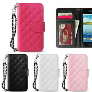 Bijou Quilting Wallet Case for Samsung Galaxy S21 S21+ Ultra / S20 S10 S9 S8 S7