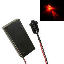 Intermitente Rojo Coche/Invernadero/Cobertizo Maniquí Falso Alarma LED + Soporte de PP3 Cerrado