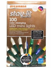 Sylvania Stay-Lit 100ct Dual Color LED Color Changing Mini Lights 1101413