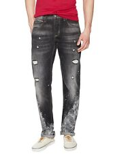 Hudson Byron Selvage Mens Straight Leg Jeans in Disarray MADE IN USA $295 NEW 34