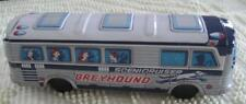 """Vintage Greyhound Scenicruiser 9"""" Tin Litho Friction Bus No. 91 Made in Japan"""