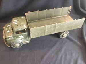 "Vintage 1950'S Marx Lumar U.S. Army Military Transport Truck 19"" Long"
