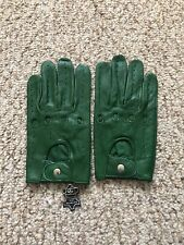 Men's Driving Green leather Gloves  Size X-Large