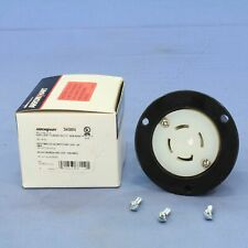 New Cooper Industrial 4-Pole Back Wire 30A 120/208V Locking Flanged Outlet 3436N