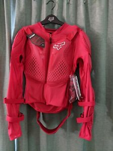 Fox Titian Protective Sports Jacket Red Large
