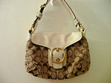 Coach Bleeker Signature Monogrammed Shoulder Tote Hobo