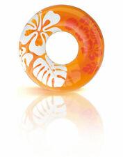 Intex Schwimmring Blume orange Reifen aufblasbar Pool Erwachsene Luftmatratze