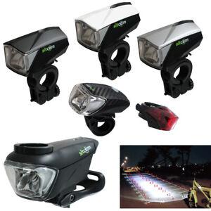 2 X ECO LED Fahrradlicht Set Fahrradbeleuchtung 40 Lux Scheinwerfer Rücklicht