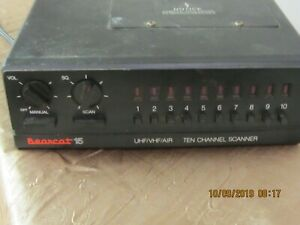 BEARCAT 15 BC-15 TEN CHANNEL SCANNER SOLD AS IS FOR PARTS NO RETURNS SEE PICS!!!