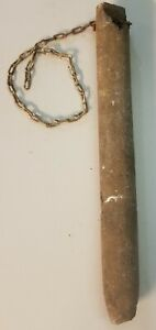 """MSC) Antique Cast Iron Double Hung Window Sash Counter Weight 5.5lbs 13.5"""" Long"""