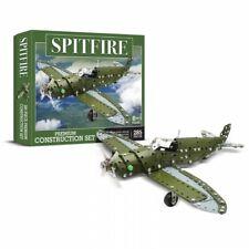 Avion Spitfire Supermarine kit de construction en métal style mécano 285 pieces