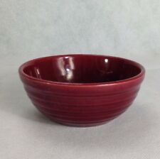 Cranberry Pottery Bowl Vanity Dish Candy Trinket Dish Made Is USA